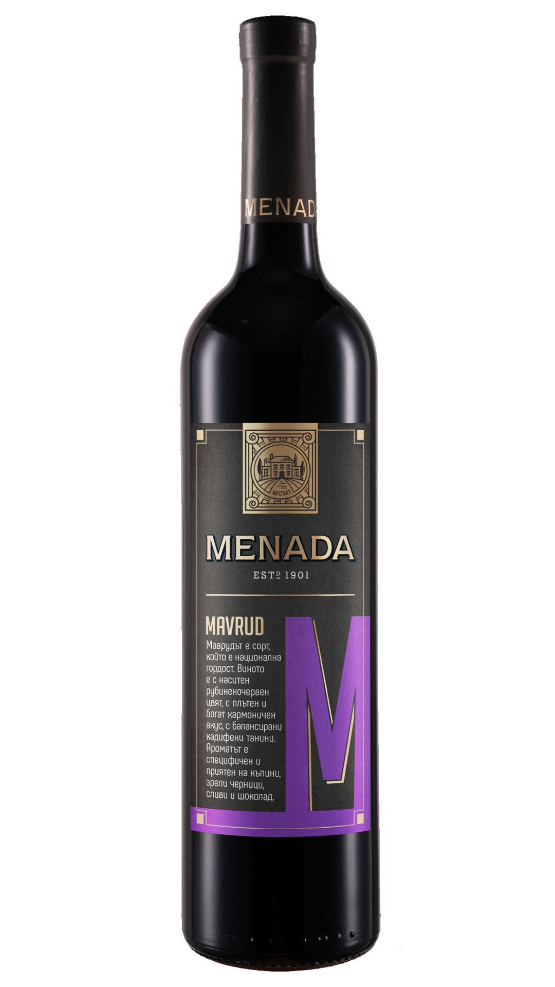 MENADA MAVRUD PGI Thracian Valley - Menada Winery